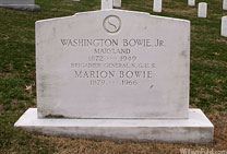 Washington Bowie Jr.'s Gravestone - click to launch popup